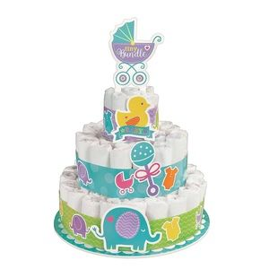 💐 Baby Shower Diaper Cake Kit ✨